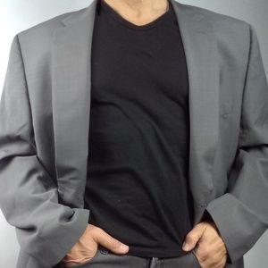 New 3XL Blazer designer greenish Gray 50 long